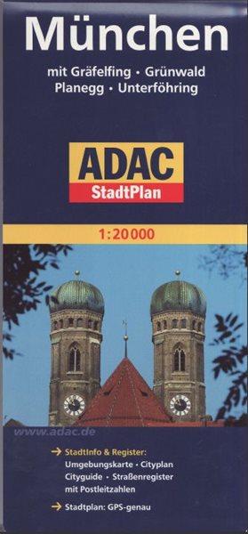 Mnichov mapa ADAC 1: 20 tis. - 12x24