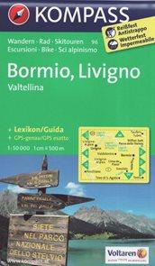 Bormio, Livigno, Valtellina - mapa Kompass 1: 50 tis.
