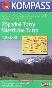 Západné Tatry 1: 25 000 mapa Kompass