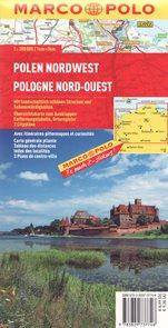 Polsko severozápad mapa Marco Polo 1: 300 000