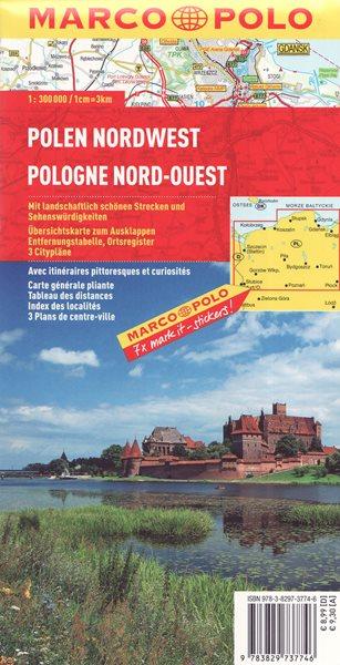 Polsko severozápad mapa Marco Polo 1: 300 000 - 13x25