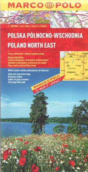 Polsko severovýchod mapa Marco Polo 1: 300 000 - 13x25