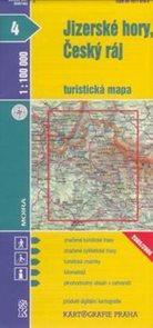 Jizerské hory, Český ráj - mapa KP č.4 - 1:100t