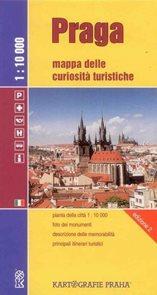 Praha 1:10 000 - mapa turistických zajímavostí - italská verze