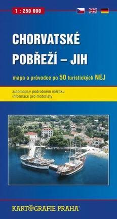 Chorvatské pobřeží -jih- mapa a průvodce - 1:250 000