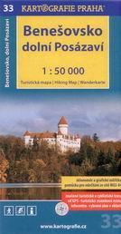 Benešovsko, dolní Posázaví - mapa Kartografie č.33 - 1:50 000