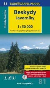 Beskydy, Javorníky - mapa Kartografie č.81 - 1:50 000