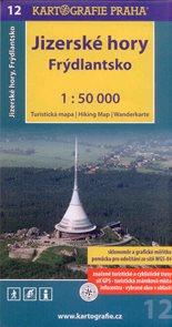 Jizerské hory, Frýdlantsko - mapa Kartografie č.12 - 1:50t