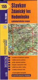 Slavkov, Ždánický les, Hodonínsko - cyklo KP č.155 - 1:70t
