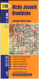 Nízký Jeseník, Bruntálsko - cyklo KP č.130 - 1:70t