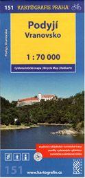 Podyjí, Vranovsko - cyklo KP č.151 - 1:70t