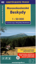 Moravskoslezské Beskydy - mapa Kartografie č.82 - 1:50 000