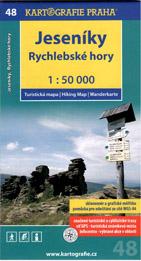 Jeseníky - Rychlebské hory - mapa Kartografie č.48 - 1:50 000