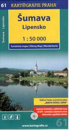 Šumava - Lipensko - mapa Kartografie č.61 - 1:50