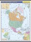 Amerika - Severní a Střední -školní- politická - nástěnná mapa - 1:10 000 000