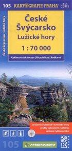 Českosaské Švýcarsko, Lužické hory - cyklo KP č.105 - 1:70 000