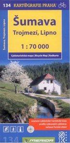 Šumava - Trojmezí, Lipno - cyklo KP č.134 - 1:70t