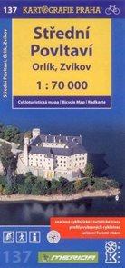 Střední Povltaví - Orlík, Zvíkov - cyklo KP č.137 - 1:70 000