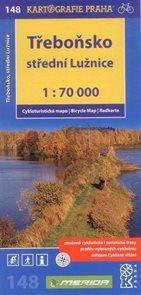 Třeboňsko, střední Lužnice - cyklo KP č.148 - 1:70 000