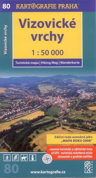 Vizovické vrchy - mapa Kartografie č.80 - 1:50 000
