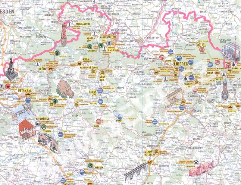 Technicke Pamatky Cr Mapa Kartografie Praha 1 500 000 Sevt Cz