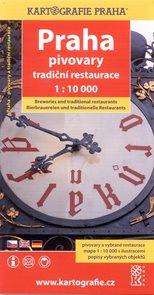 Praha - pivovary, tradiční restaurace - plán Kartografie Praha 1:10 000