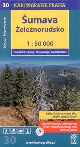 Šumava - Železnorudsko - mapa Kartografie č.30 - 1:50 000