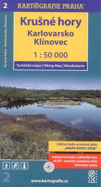 Krušné hory - Karlovarsko, Klínovec - mapa Kartografie č.2 - 1:50 000