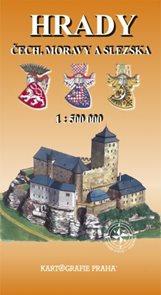 Hrady Čech, Moravy a Slezska 1: 500 000 mapa