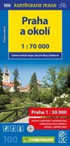 Praha a okolí 1:70 000 cykloturistická mapa