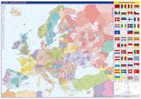 Evropa nástěnná administrativní mapa