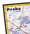 Rámovaná Praha nástěnná mapa 1: 20 000