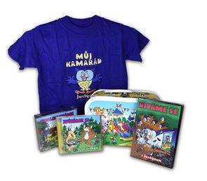 Kufřík kamarád 6 CD + 3 DVD + tričko 3-5 let
