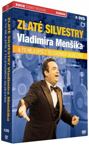 Zlaté silvestry Vladimíra Menšíka 8 DVD - neuveden - 13x19