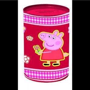 Růžová kasička na penízky Prasátko Peppa