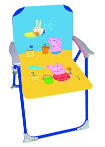 Modrá židlička pro dítě s Prasátkem Peppa