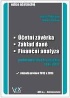 Účetní závěrka, základ daně, finanční analýza podnikatelkských subjektů 2012