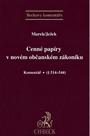 Cenné papíry v novém občanském zákoníku