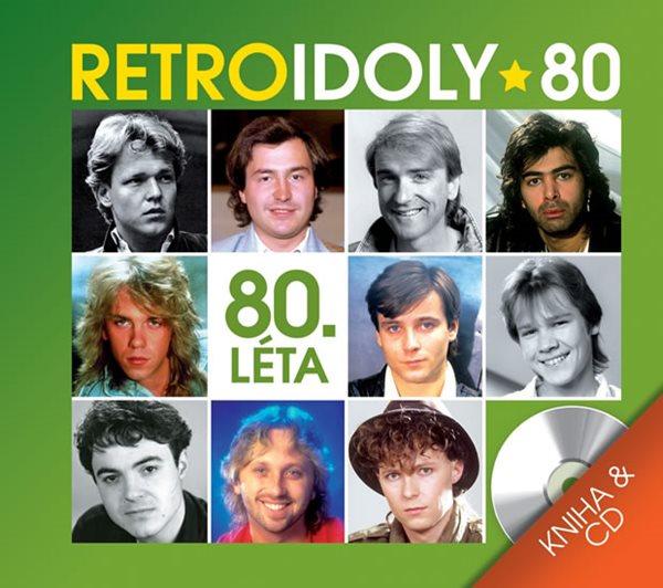 Retro Idoly 80. léta - CD a kniha - neuveden - 13x14