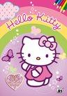 Hello Kitty - Omalovánka a kvízy A4