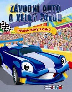 Závodní auto a velký závod