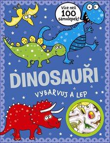 Dinosauři - vybarvuj a lep