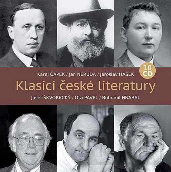 Klasici české literatury 10 CD - neuveden - 13x14
