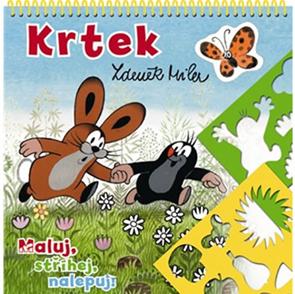 Krtek - Maluj, stříhej, nalepuj!