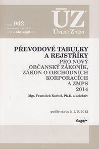 ÚZ 902/ Převodové tabulky a rejstříky pro nový občanský zákoník, zákon o obchodních korporacích a ZM