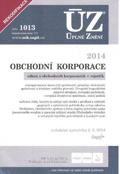 ÚZ 1013 / Obchodní korporace - 14x21