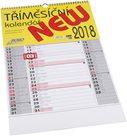 BOBO Kalendář nástěnný tříměsíční NEW 2018