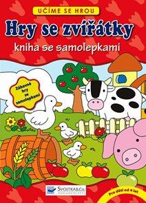 Hry se zvířátky – kniha se samolepkami