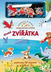 Divoká zvířátka - Namaluj a smaž - magnetická knížka - 2. vydání