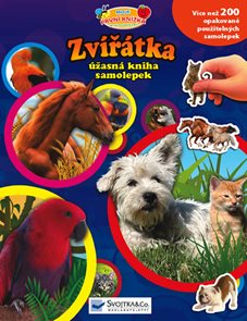 Zvířátka - úžasná kniha samolepek